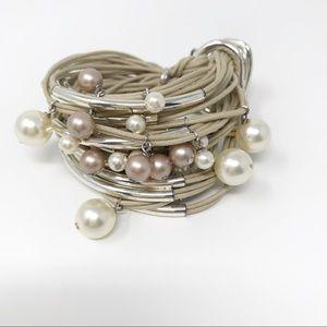 gj Multi-color Pearl Bracelet